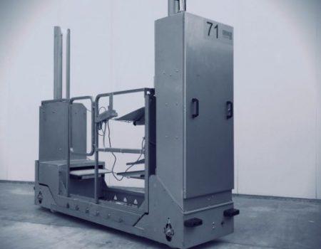 Hydrauliczny wózek do zbioru - nowoczesna pieczarkarnia