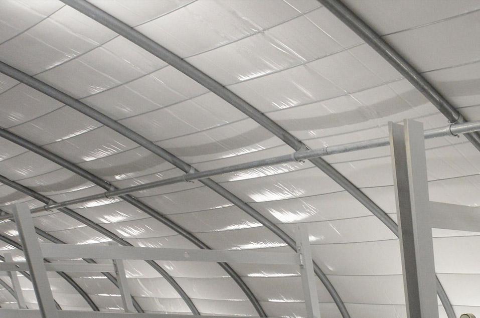 Маты туннельных накрытий на потолке