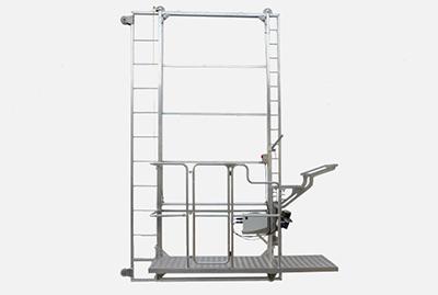 Aluminiowy wózek do zbioru pieczarek serii NEWTON na szarym tle