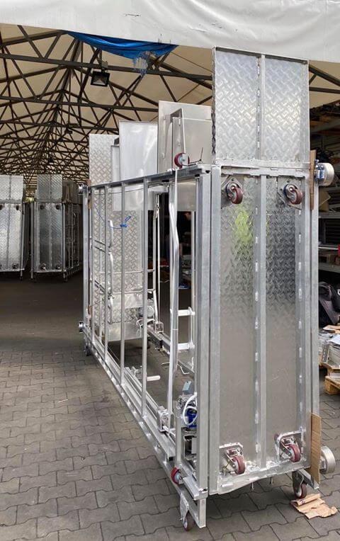 Przechowywanie wózków do pieczarkarni